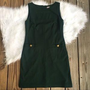 Vince Camuto Green Shift Front Pocket Dress